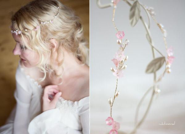Amanda III Diadem Braut Perlen Hochzeit Rosa-02