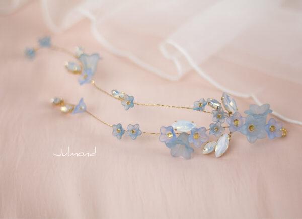 Andima Haarschmuck Blumen Hochzeit Blau-01
