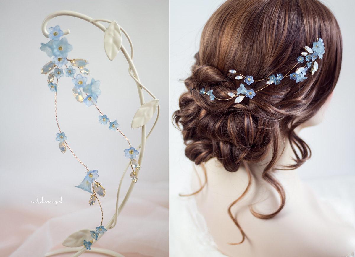 Andima Haarschmuck Blumen Hochzeit Blau-02