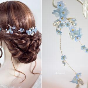 Andima Haarschmuck Blumen Hochzeit Blau-03