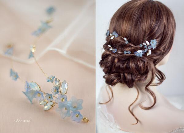 Andima Haarschmuck Blumen Hochzeit Blau-05