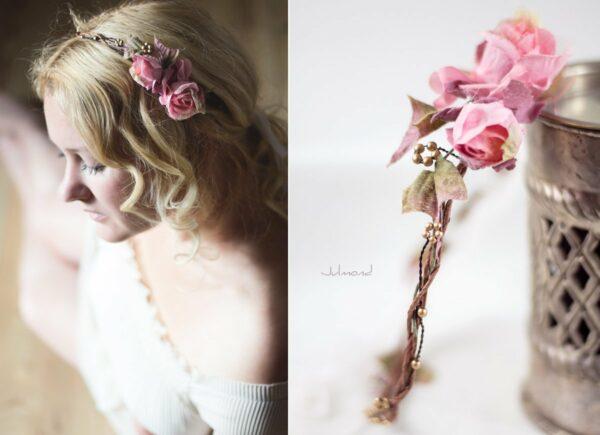 Bahia Haarband Blumen Hochzeit Vintage-05