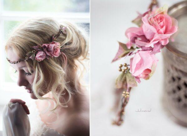 Bahia Haarband Blumen Hochzeit Vintage-06