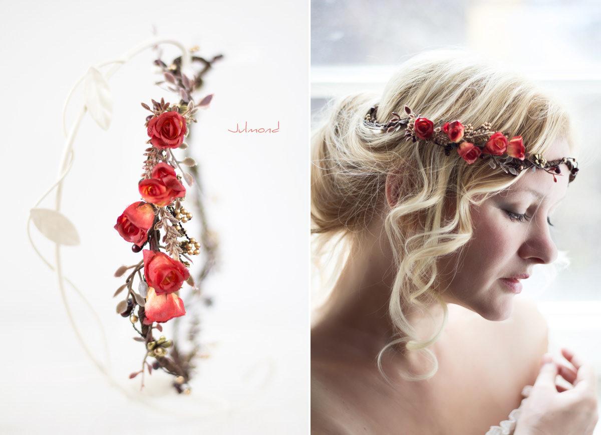 Cata Blumenkranz Hochzeit Rosen Rot-01