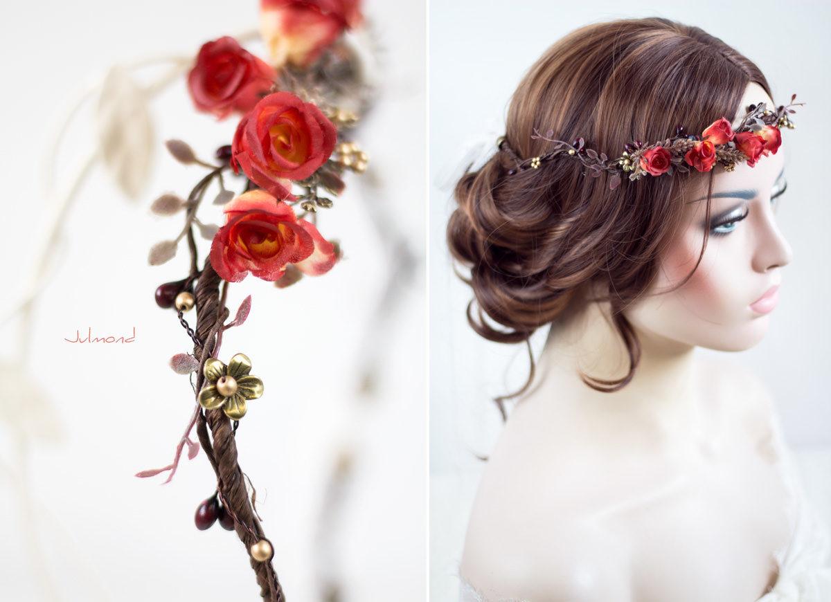 Cata Blumenkranz Hochzeit Rosen Rot-02