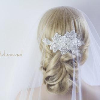 Chelisa Haarschmuck Spitze Braut Hochzeit Haarclip-03