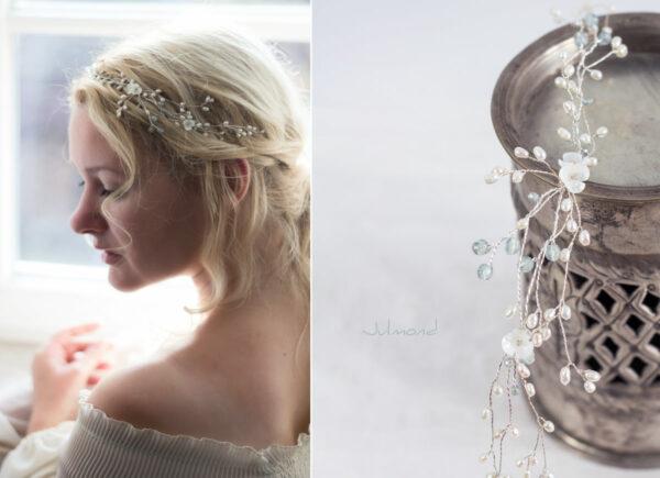 Cora Haarschmuck Hochzeit Echte Perlen Haarband Tiara-03