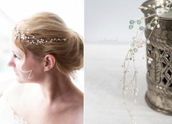 Cora Haarschmuck Hochzeit Echte Perlen Haarband Tiara-06