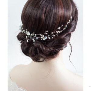 Cora Haarschmuck Hochzeit Echte Perlen Haarband Tiara-08