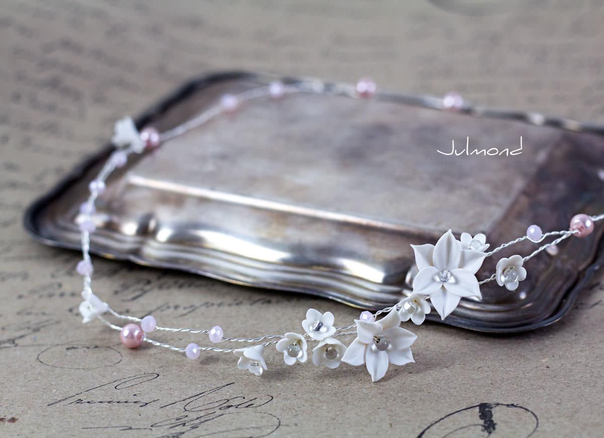 Diadem Hochzeit Perlen Elfe 01