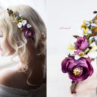 Eden Haarkranz Blumenkranz Blumen-10