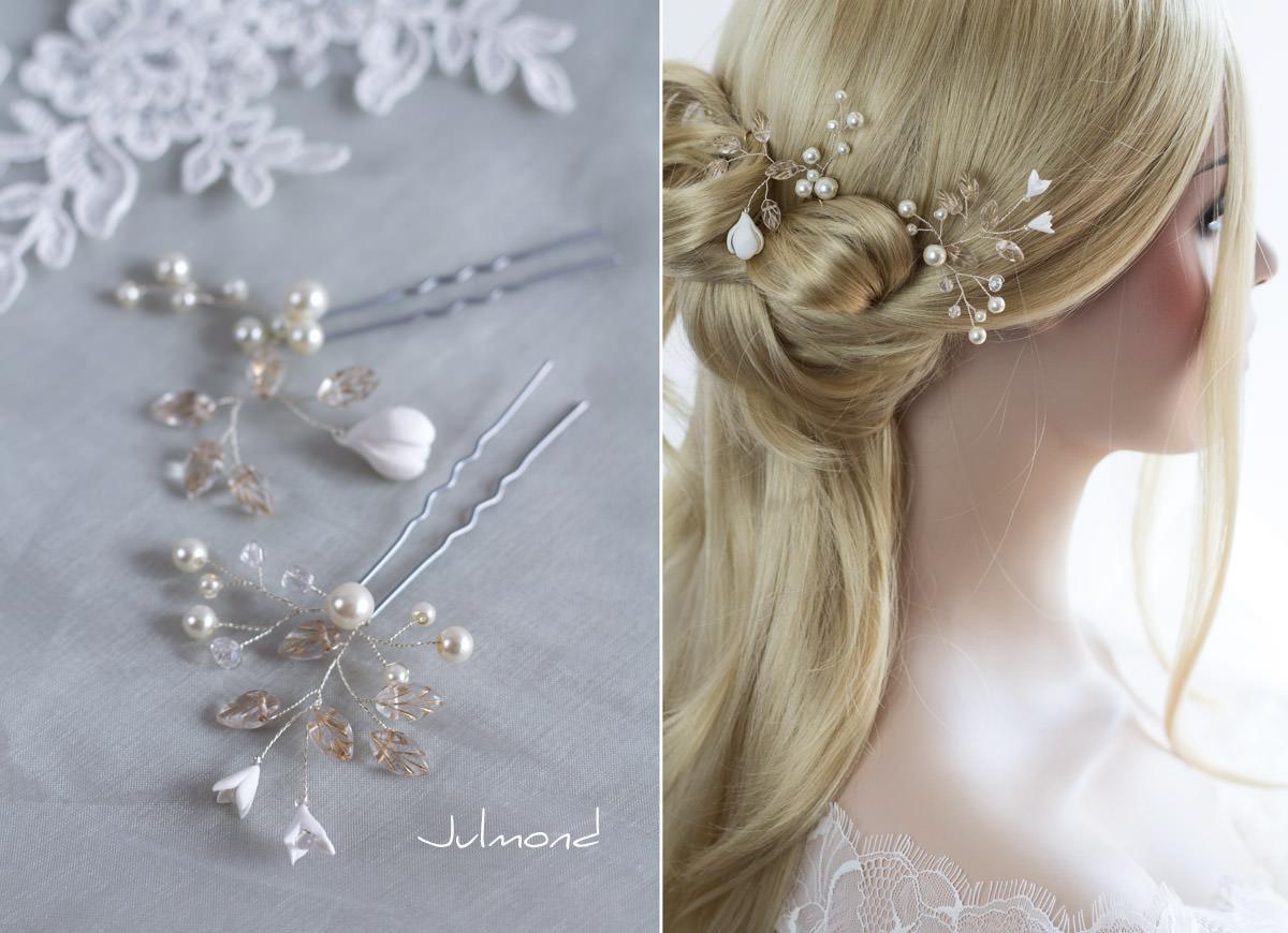 Braut haarschmuck mit perlen  Ellen - Julmond