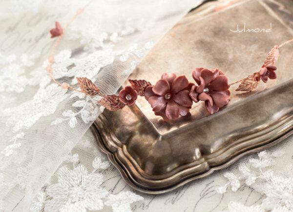 Fenja Diadem Hochzeit Tiara Braut Rosegold-04