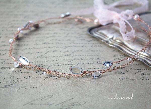 Gini Diadem Hochzeit Strass Rosegold Boho-04