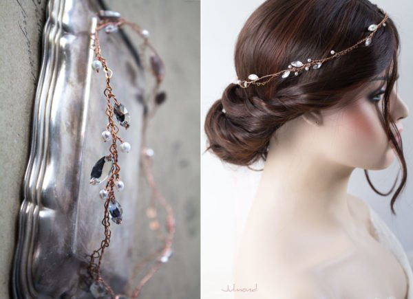 Gini Diadem Hochzeit Strass Rosegold Boho-05