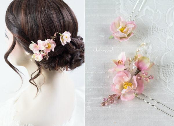 India Haarnadel Hochzeit Haarschmuck Perlen Rosen-01