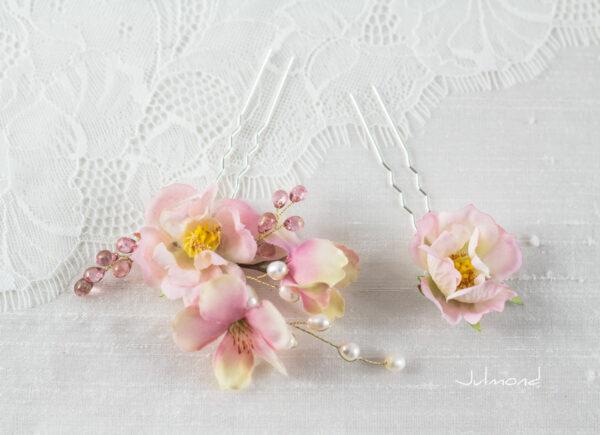 India Haarnadel Hochzeit Haarschmuck Perlen Rosen-03