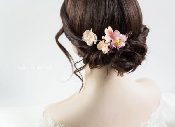 India Haarnadel Hochzeit Haarschmuck Perlen Rosen-04