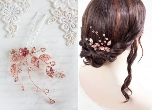 Inessa Hochzeit Haarnadel Perlen Rosegold-03
