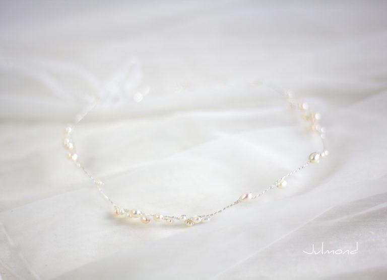 Isabell Haarband Perlen Hochzeit Tiara-10
