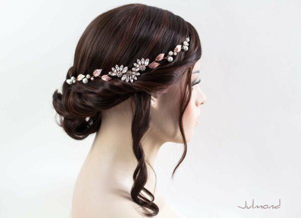 Isabo Haarranke Rosegold Hochzeit Diadem-01