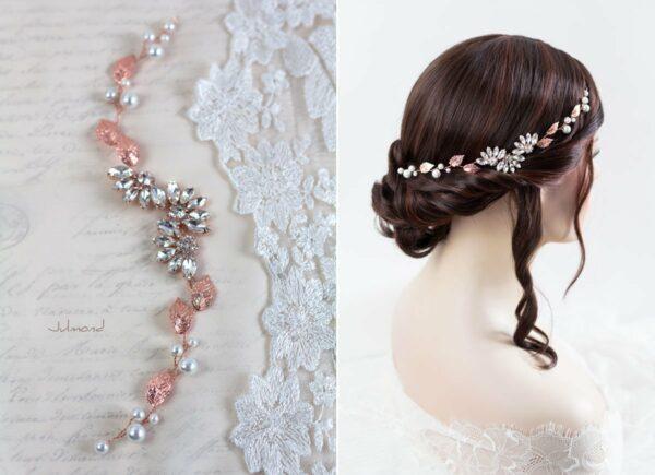 Isabo Haarranke Rosegold Hochzeit Diadem-02