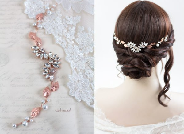 Isabo Haarranke Rosegold Hochzeit Diadem-04