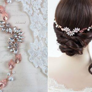 Isabo Haarranke Rosegold Hochzeit Diadem-05