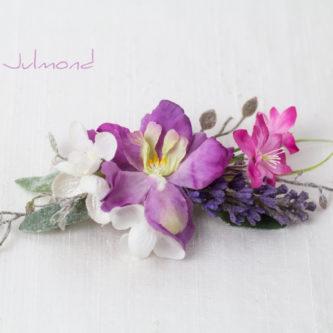 Isodora Haarschmuck Oktoberfest Blumen Haarclip-01