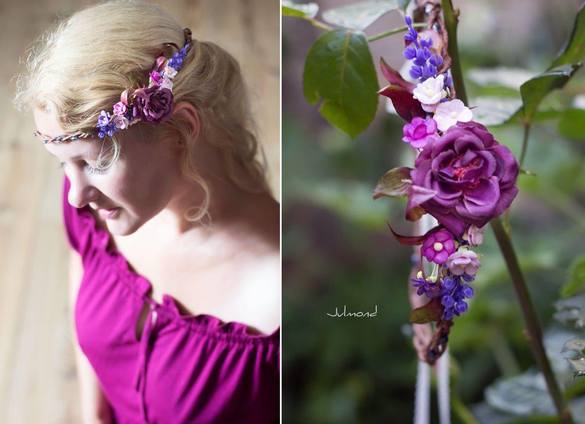Jelly Haarkranz Blumen Blau Hochzeit Haarband-03
