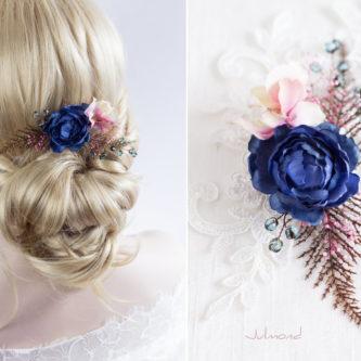 Jho Haarblüte Perlen Braut Haarschmuck Haarclip-04