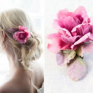Jona II Haarblüte Blume Boho Braut Haarclip-05
