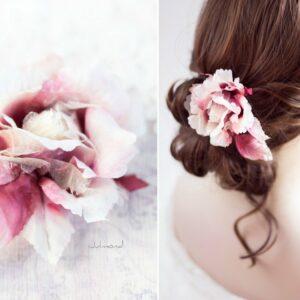 Jona III Haarblüte Boho Rose Haarschmuck-03