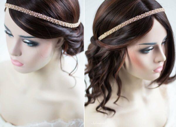 LaPerla II Haarband Roségold Hochzeit Perlen 01