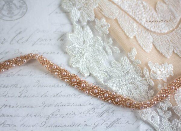 LaPerla II Haarband Roségold Hochzeit Perlen 03