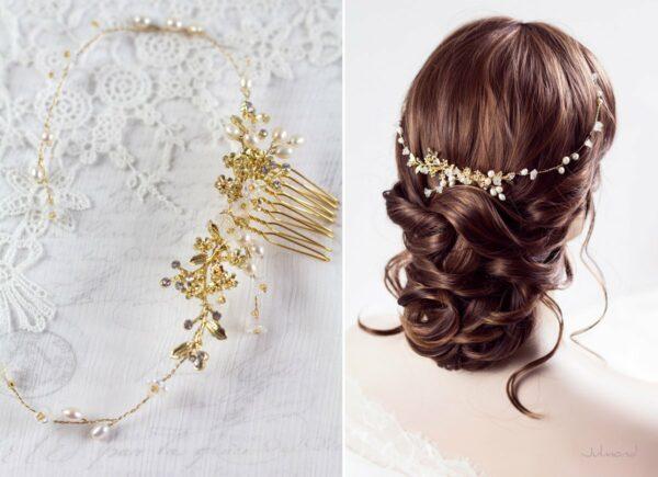 Leya Haarschmuck Echte Perlen Haarkamm Hochzeit-01