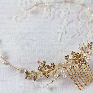 Leya Haarschmuck Echte Perlen Haarkamm Hochzeit-02