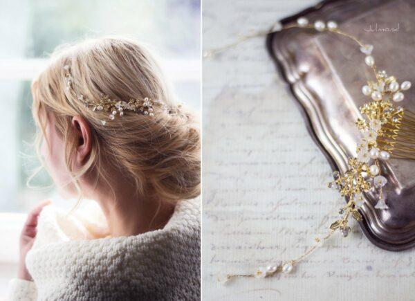 Leya Haarschmuck Echte Perlen Haarkamm Hochzeit-03