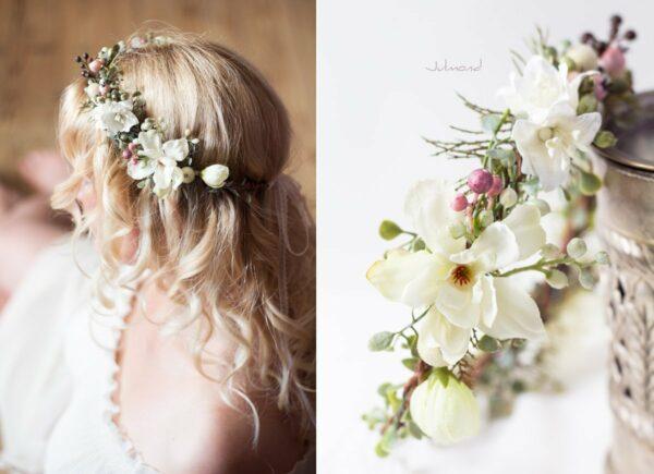 Loana Winterhochzeit Haarband Blumenkranz Vintage-02