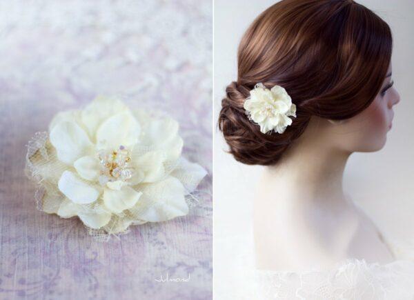 Malea Haarblume Shabby Spitze Hochzeit Braut-01