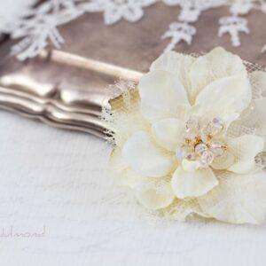 Malea Haarblume Shabby Spitze Hochzeit Braut-04