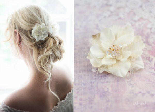 Malea Haarblume Shabby Spitze Hochzeit Braut-05
