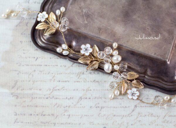 Maven Haarranke Diadem Hochzeit Perlen-03