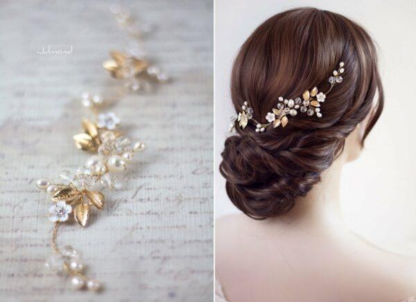 Maven Haarranke Diadem Hochzeit Perlen-04