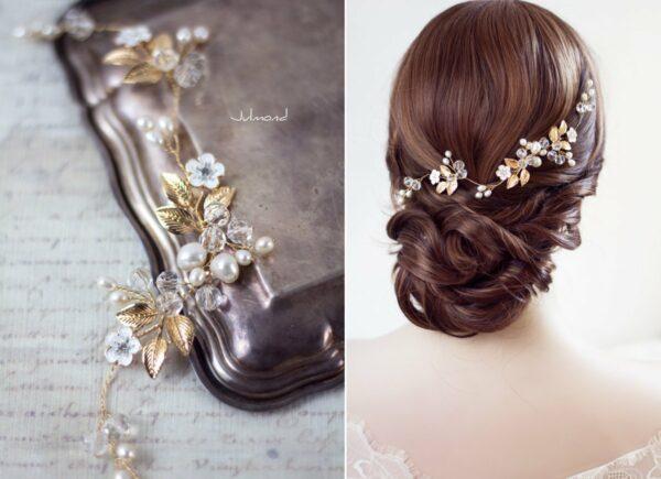 Maven Haarranke Diadem Hochzeit Perlen-05