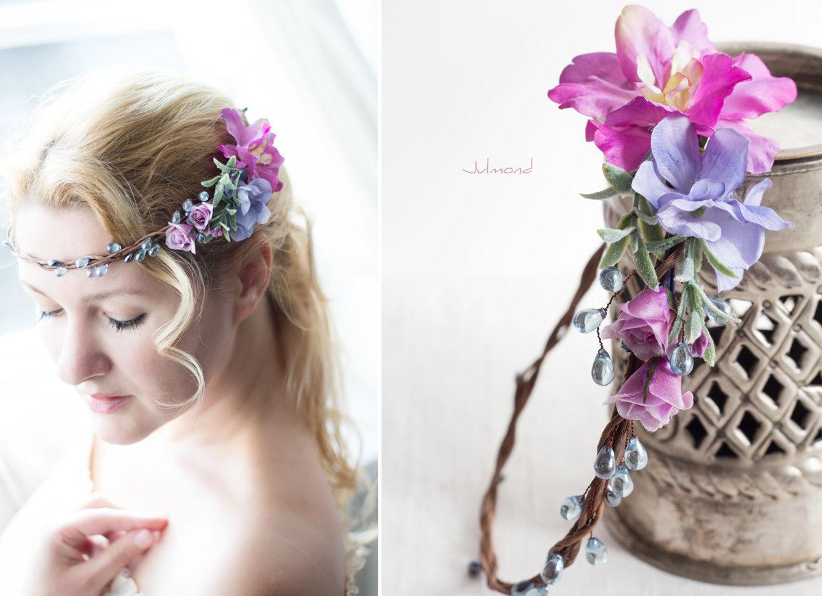 Mirella Haarkranz Blumen Perlen Hochzeit Haarschmuck blau-07