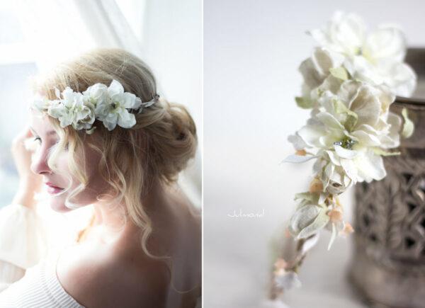 Rahel Vintage Blumenkranz Hochzeit Blumen Ivory-02