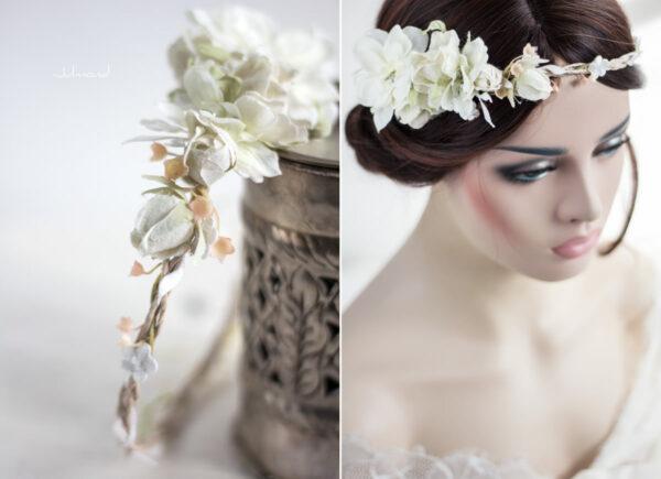 Rahel Vintage Blumenkranz Hochzeit Blumen Ivory-03