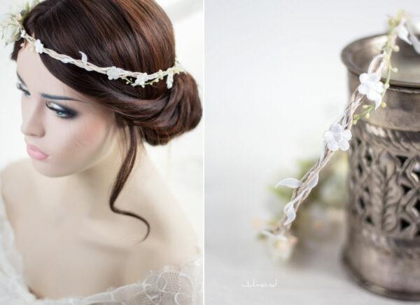Rahel Vintage Blumenkranz Hochzeit Blumen Ivory-04