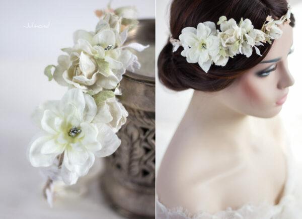 Rahel Vintage Blumenkranz Hochzeit Blumen Ivory-05